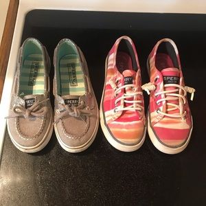 Girls sperry shoes 13